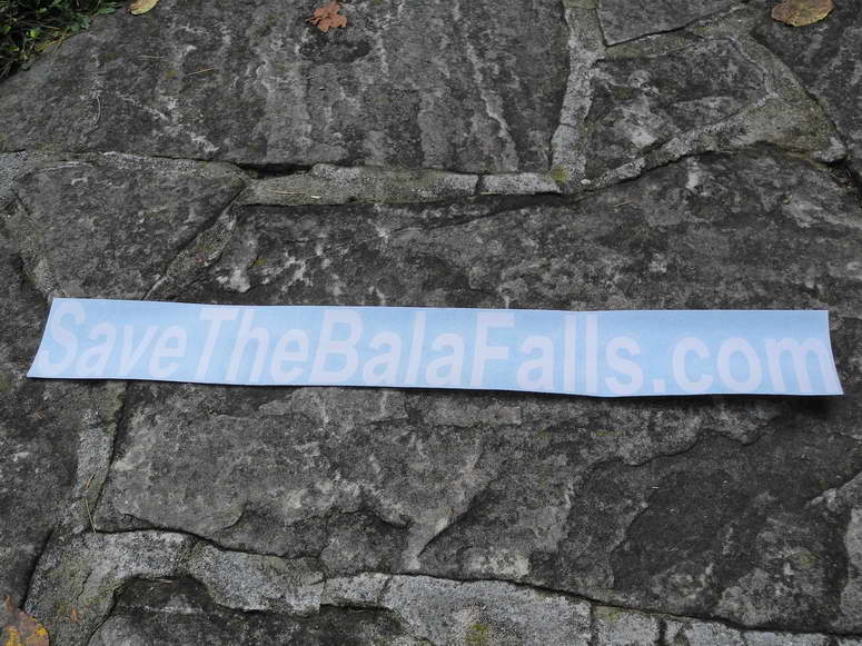 Your SaveTheBalaFalls.com car decal